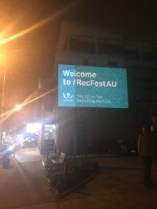 RecFest AU Guerilla Projection