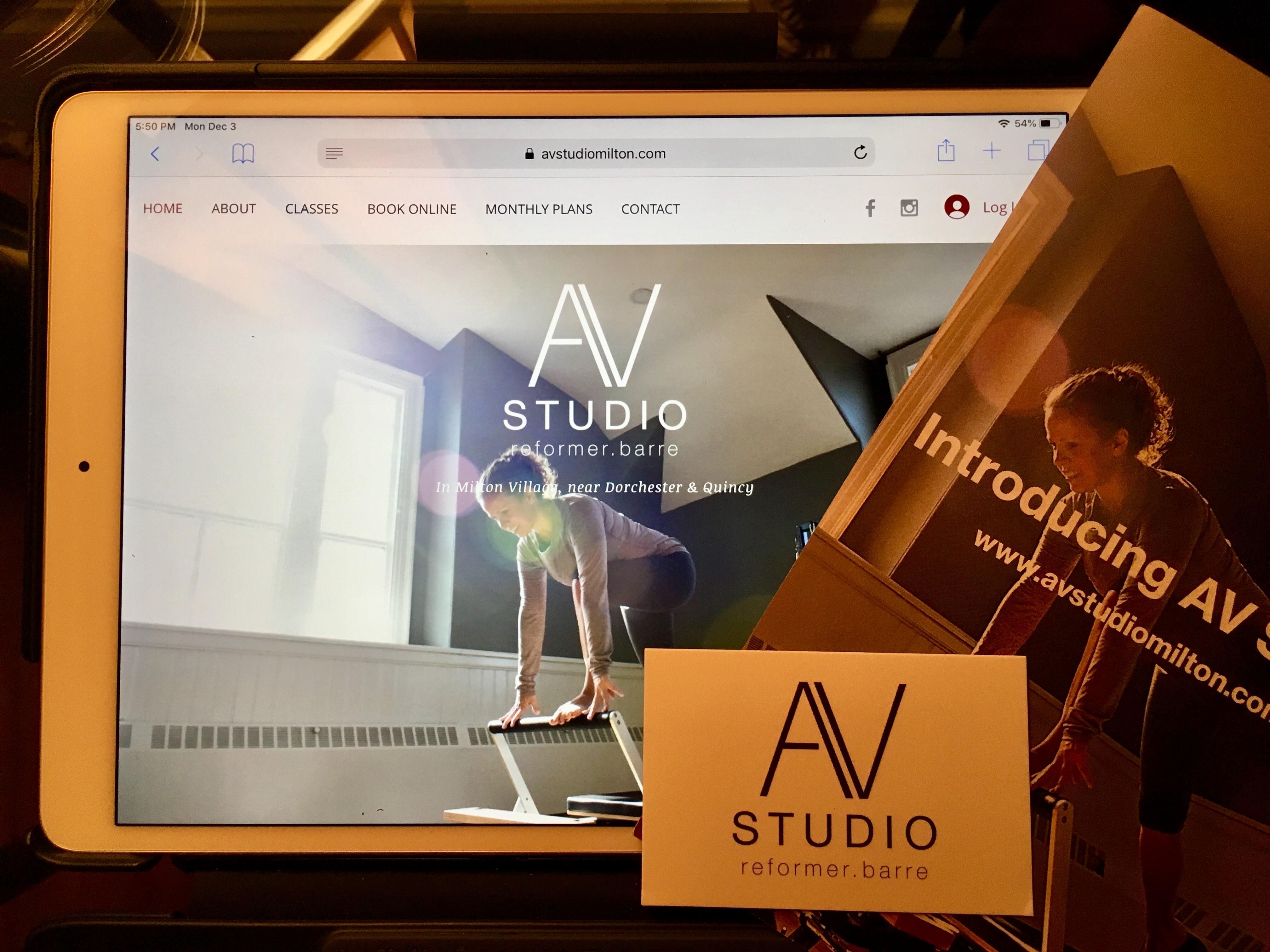 AV Studio Milton Site and Collateral